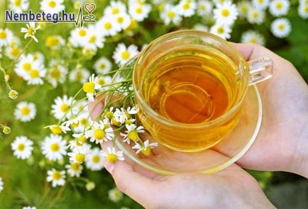 A kamilla tea nyugtatja az idegeket