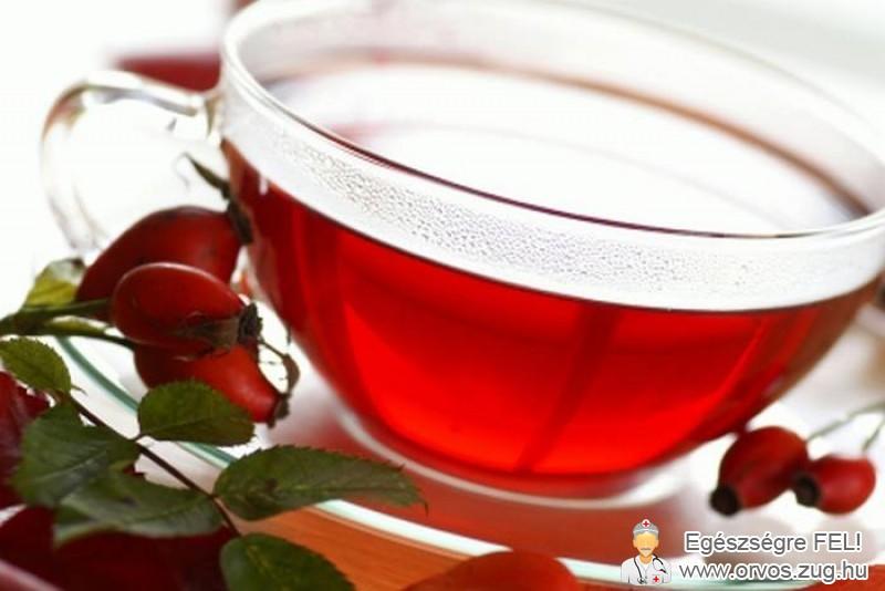 Vitaminpótlás csipkebogyó teával