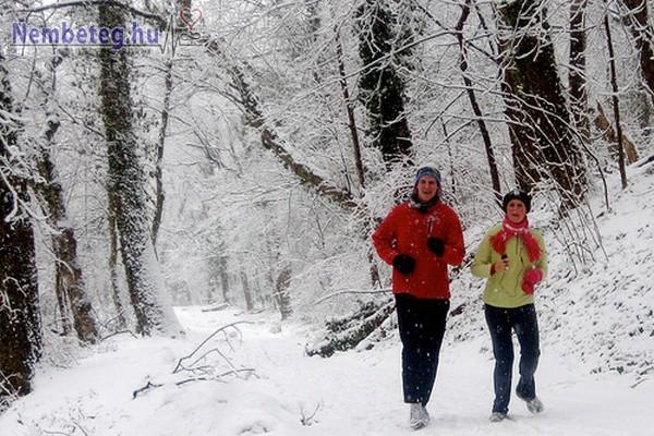 Télen is fontos, hogy tartózkodjunk elegendő időt a friss levegőn