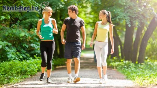 Napi 30 perc séta sokat segít egészségünk megtartásában