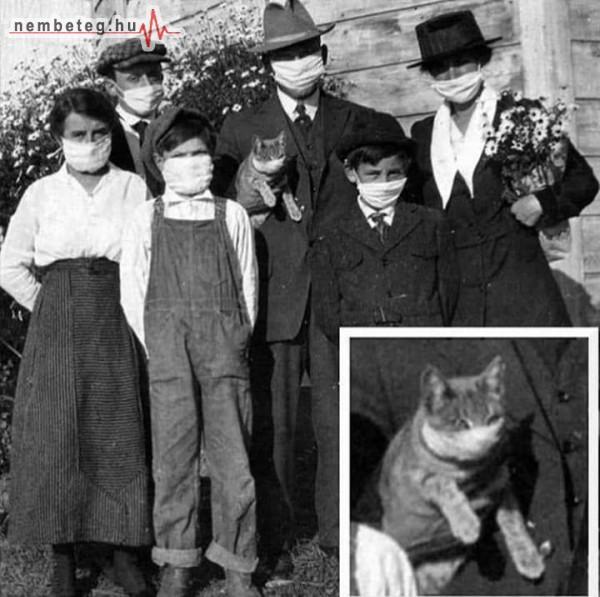 Régen: spanyolnátha idején - maszkos család